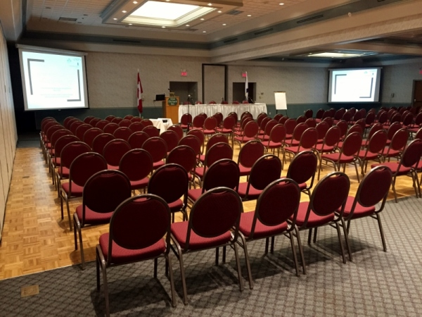 Professional AV Production Services in Halifax, Nova Scotia with Dual Video Screens