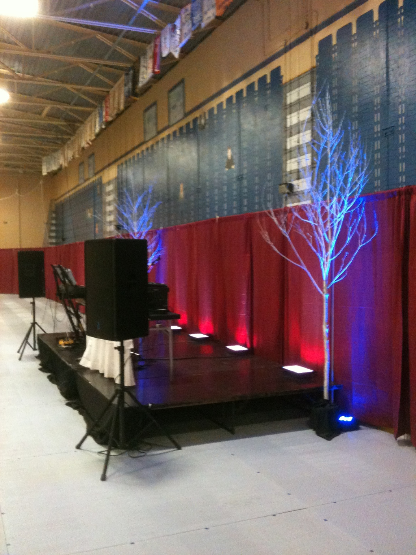 AV Production Services - Setup for 2nd Stage - Relay for Life